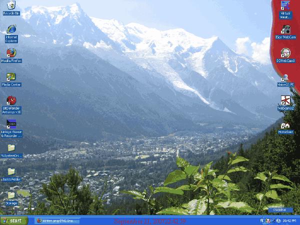 Living Earth Desktop Screen
